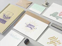 Letterpress Papeterie von Designed, handprinted & manufactured in Vienna. Happy Wife, Vienna, Letterpress, Love Story, Happy Birthday, Organic, Graphic Design, Paper, Paper Mill