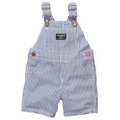 Seersucker Shortalls | Baby Boy Overalls. Super old school but love it!!!