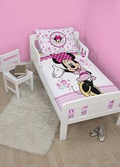 Character World Disney Parure de couette Minnie Mouse Multicolore Lit enfant: Produit officiel sous licence Lavable en machine 120 cm x 150…
