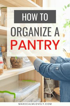 How to organize a pantry. Tips and suggestions to completely organize and clean your pantry or food storage Pantry Closet Organization, Clutter Organization, Small Space Organization, Recipe Organization, Home Organization Hacks, Organizing Your Home, Organizing Tips, Getting Rid Of Clutter, Getting Organized