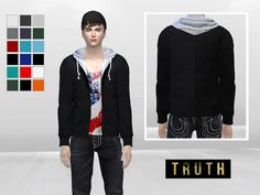 King Royce Hooded Jacket by McLayneSims at TSR • Sims 4 Updates