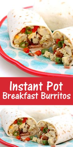 Make the filling for egg breakfast burritos in your Instant Pot. It's the perfect way to meal prep breakfast for the week! #instantpotrecipes #crockpotrecipes