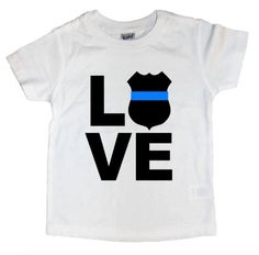 Thin Blue Line, Support the Police Child/Toddler/Baby shirt by DarlingJuneBoutique on Etsy