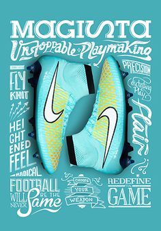 Get the latest Nike football boots at Pro:Direct Soccer including the Mercurial, Phantom & More. Available with next day delivery at Pro:Direct Soccer. Nike Football Boots, Soccer Boots, Football Cleats, Nike Design, Design Visual, Sneaker Posters, Shoe Poster, Nike Ad, Shopping