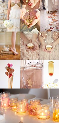 fun and sparkly party or wedding ideas