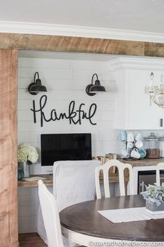 Check it out We have done a lot of remodeling to our home but our farmhouse pantry is my favorite project by far at this point! Fixer Upper style pantry | Shiplap | Thankful Cutout | Farmhouse Decor ..