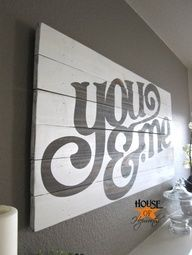 DIY Wall Art. I would love to make something like this and use it as a headboard over our bed! I would make it big enough to be used with our king bed, add an under-piece that would go behind the bed, with a shelf dividing the two (small, useful for holding eye glasses, etc). It would also be cool to fit it with hidden light ropes on the sides and maybe top, to be used as night lights!