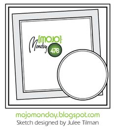 A weekly sketch challenge blog with card sketches designed by Julee Tilman and occasionally members of the Mojo design team. A new sketch is posted every Monday, with a special contest with prizes sponsored by Julee's stamp company, Verve Stamps, held the first Monday of each month.