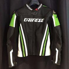 Custom Handmade Replica Dainese Motorcycle Biker Leather Jacket #Handmade