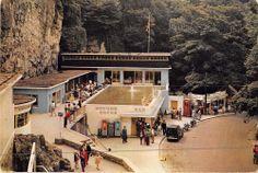 Somerset I Postcard Entrance To Coughs Caves Cheddar Cave Man Restaurant  006