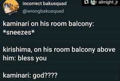 from the story Bnha Memes by JustYeetIt with reads. My Academia, Boku No Hero Academia Funny, My Hero Academia Memes, Hero Academia Characters, My Hero Academia Manga, Stupid Funny, Haha Funny, Funny Memes, Villain Deku