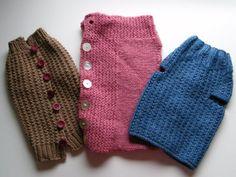 Tejido a mano suéteres del perro por LewisKnits en Etsy