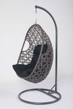 Zara Hanging Pod Chair made from natural split rattan   True Green     Hanging Pod Chair