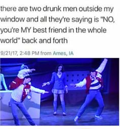 the only good type of drunk men>>um there's no good type of drunk men Theatre Nerds, Musical Theatre, Broadway Theatre, Musical Hamilton, Satire, Heathers The Musical, The Rocky Horror Picture Show, Funny Memes, Jokes