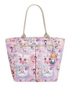 """Maybe not this in particular, but the Le Sportsac Mary Blair """"It's a Small World"""" collection has been darling."""