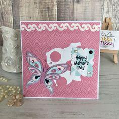 Handmade Mother's Day card butterfly  mum card Handmade