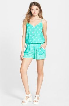 COCO & JAMESON Print Romper (Juniors) available at #Nordstrom