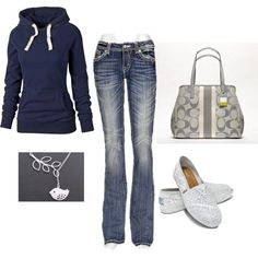 This is definitely my kind of everyday wear, jeans with hoodie! Cute and comfy