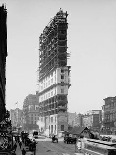 Photographic Print: Times Building under Construction, New York, N.Y., C.1903 : 24x18in