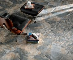 The Fossil porcelain tile collection from ABK is inspired by the look and feel of fossilized woods