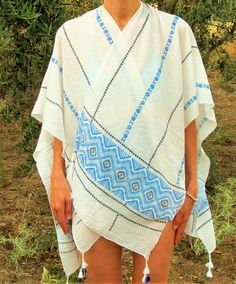 Poncho de verano 12,90€ - CMK Kimono Top, Sari, Tops, Women, Fashion, Ponchos, Summer Time, Saree, Moda