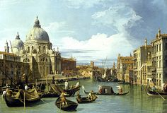 The Entrance to the Grand Canal Venice 1730 by Canaletto  The Entrance to the Grand Canal, Venice, is an c.1730 oil painting on canvas by the Venetian painter Canaletto. It is a Rococo landscape painting measuring 49.6 by 73.6 centimeters (19.5 in × 29.0 in) currently held as part of the Robert Lee Blaffer Memorial Collection in the Audrey Jones Beck Building at the Museum of Fine Arts... click the image to read more and see more art by the Old Masters.