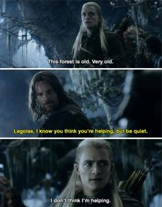 LOL!!!!!! Aaaaahh, I'm laughing way too hard than I should be :'D I'm so, so sorry, Legolas, that they made you so demeaning and unimportant (kind of) in the movies .... you were AWESOME in the books, 120% moreso than in the movies..... But this post is true, for movie you, and it is hilarious. I apologize
