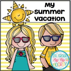 My Summer Vacation...Writing and 'Selfie' FREEBIE!!