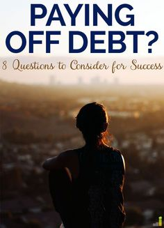 I'm in the middle of getting started paying off debt, and asking myself these 8 questions really helped me gain clarity on how I'm going to do it! I'm ready to be debt free!