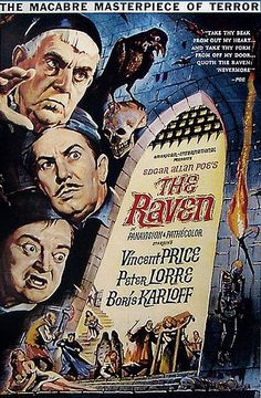 The Raven with Boris Karloff, Peter Lorre and Vincent Price.  directed by Roger Corman.