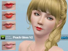 Peach Gloss by Minisz  http://www.thesimsresource.com/downloads/1176701