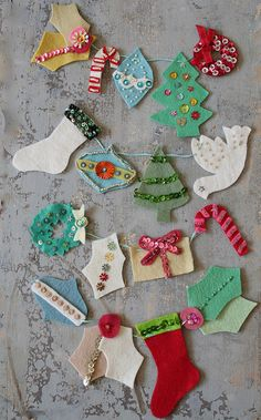 beautiful felt garland by pam garrison...