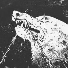 Stay Tenacious Art Print by Mx Morgan G Robles - X-Small Dessin Old School, Timberwolf, Arte Obscura, Aesthetic Art, Dark Art, Art Inspo, Art Reference, Illustration, Cool Art