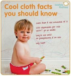 Fun Facts about Cloth Nappys! It has a lot of benefits for your baby the environment and it's budget friendly!