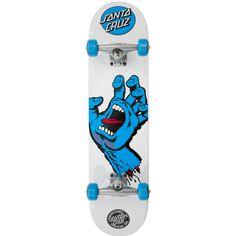 "Santa Cruz Screaming Hand Complete Skateboard - White 7.75"""