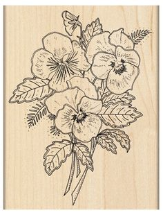 Pansy Bouquet - Rubber Stamp