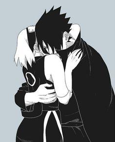 Aww sasuke is crying