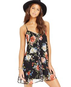 American Rag Mixed-Print Panel Slip Dress