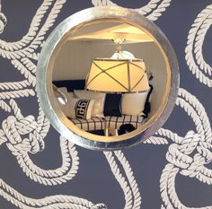 Geometric Collection - Rope wallpaper by Cole & Son, being used to great effect at Design Center Chelsea Harbour for Superyacht Design Week.