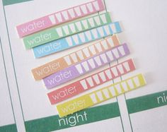 WATER Planner Stickers - Hydrate Stickers - for Erin Condren Planners
