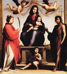 Un'opera di Fra' Bartolomeo della Porta che si trova nel Duomo di San Martino a Lucca: la Madonna del Santuario
