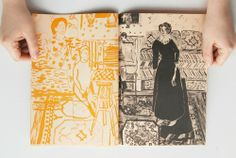 "Florence Shaw's new book is a series of drawings from ""The Painters Family"" by Matisse"