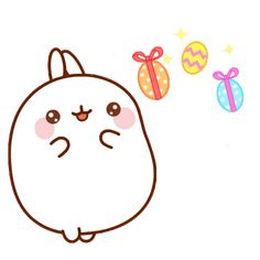 Welcome to the Molang official Giphy channel! Find here your favorite Gif about friendship, love, cuteness, happiness and kawaii. Happy Easter Gif, Phineas, Happy Stickers, Molang, Funny Bunnies, Kawaii Wallpaper, Pusheen, Cute Gif, Cute Cakes