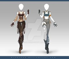 (CLOSED) Adoptable Outfit Auction 210 - 211 by Risoluce.deviantart.com on @DeviantArt