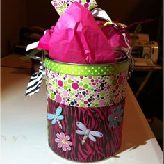 Paint cans as gift bags