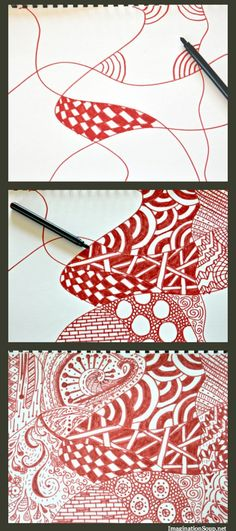 Zentangle for kids - step by step basics