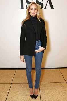 Lauren Santo Domingo- in Saint Laurent jeans   - HarpersBAZAAR.com