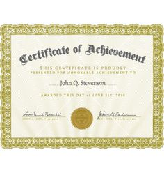 Award Certificate Template  Google Search  Cert