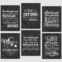 Free Printable Black And White Wall Quotes