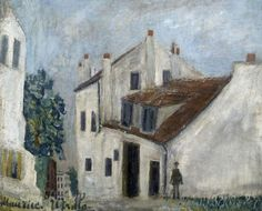 The House Of Mimi Pinson In Montmartre by Maurice Utrillo Handmade oil painting reproduction on canvas for sale,We can offer Framed art,Wall Art,Gallery Wrap and Stretched Canvas,Choose from multiple sizes and frames at discount price. Paris Painting, Oil Painting On Canvas, Maurice Utrillo, Art Transportation, Beauty In Art, Landscape Paintings, Landscapes, Oil Painting Reproductions, Traditional Paintings
